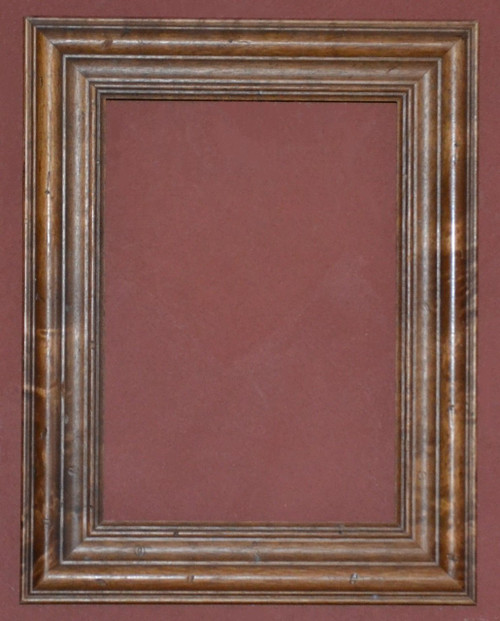 Antique Stain & Lacquered wood Frame, size 9 3/4 X 13 3/4