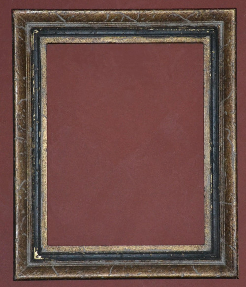 Gold Metal Leaf & Antique Black Panel Frame