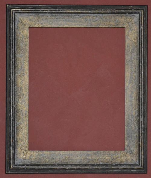 Gold Metal Leaf & Antique Black Panel Frame