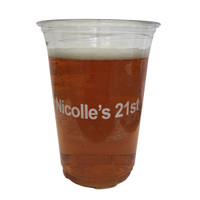 Custom Beer Pong Cups - Clear
