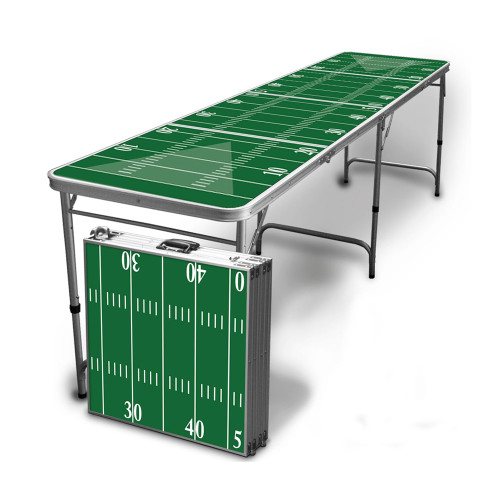 Football Stadium Lights End Table: Drink Up Beer Pong Table