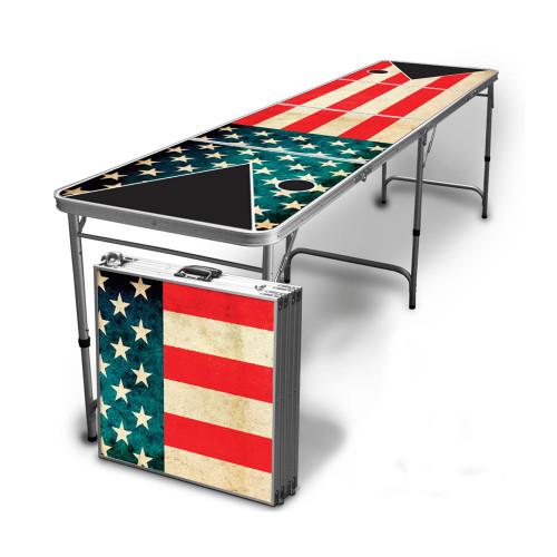 Vintage American Flag Beer Pong Table