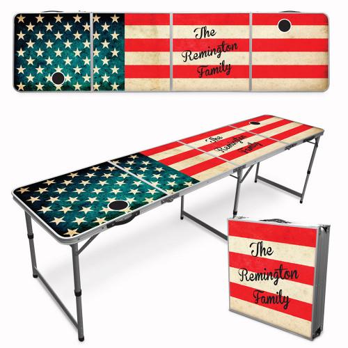 Custom Beer Pong Table - American Flag