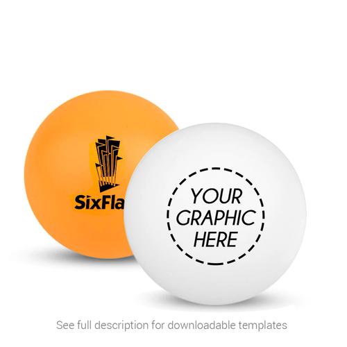 Custom White or Orange Ping Pong Ball (1-Star)