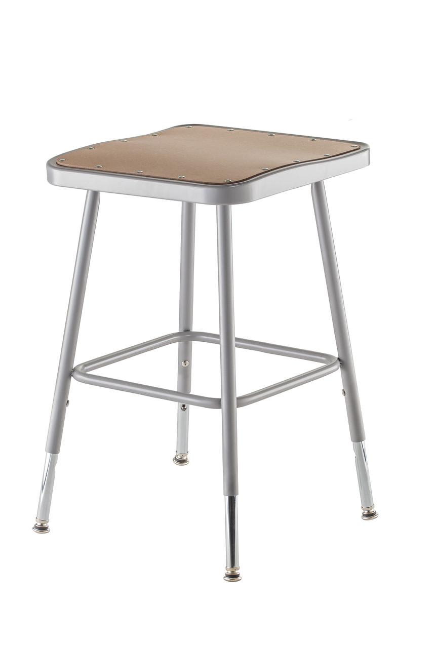 6318h Adjustable Stool Wit Square Hardboard Seat L Affordable