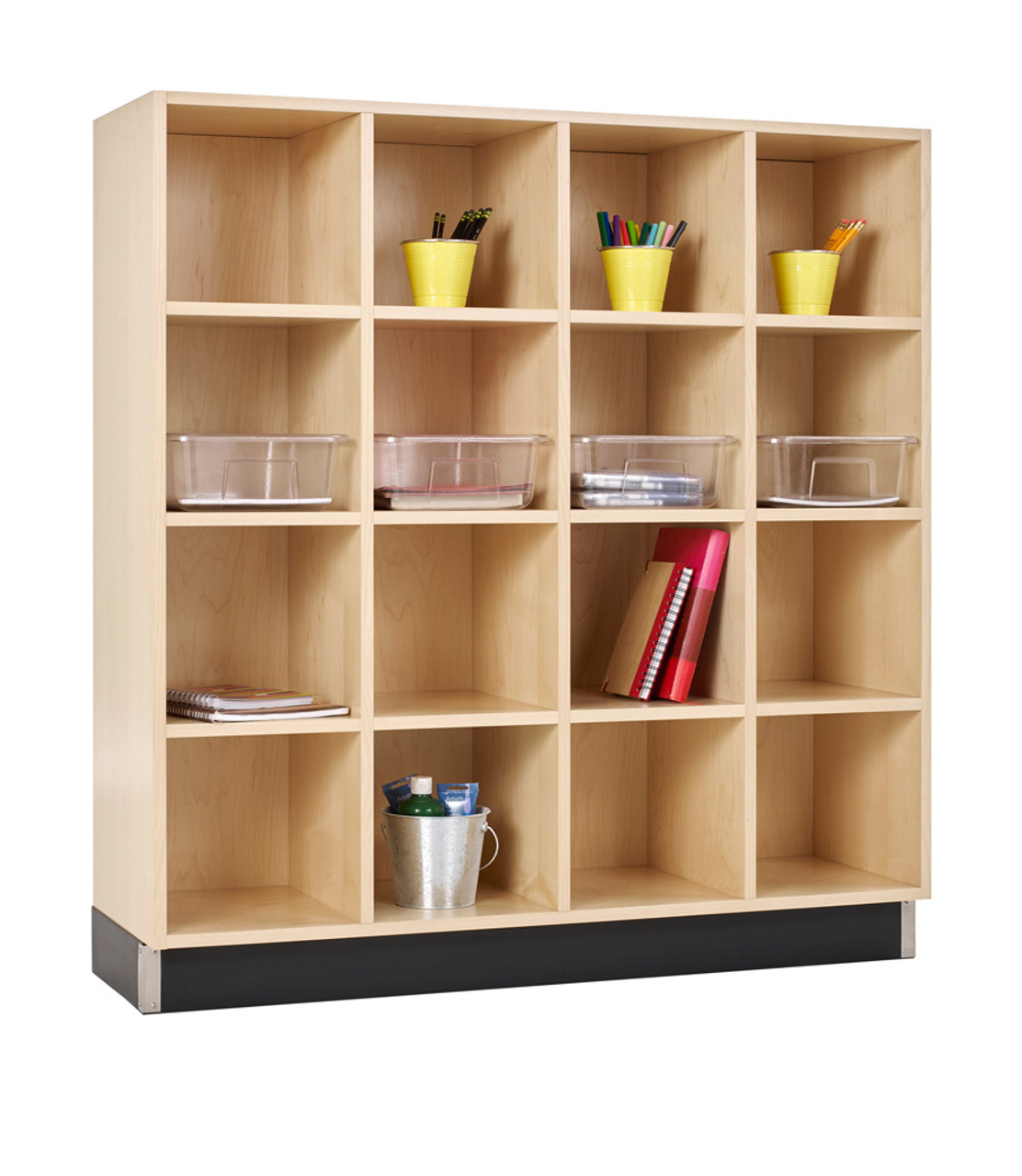 Charmant Diversified CC 4815 51M Four Section Cubby Cabinet 48W X 15D X 51H Maple ...