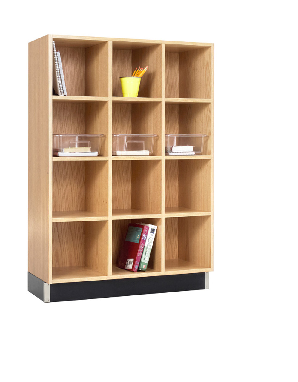 Superbe Diversified CC 3615 51K Three Section Cubby Cabinet 36W X 15D X 51H Oak ...