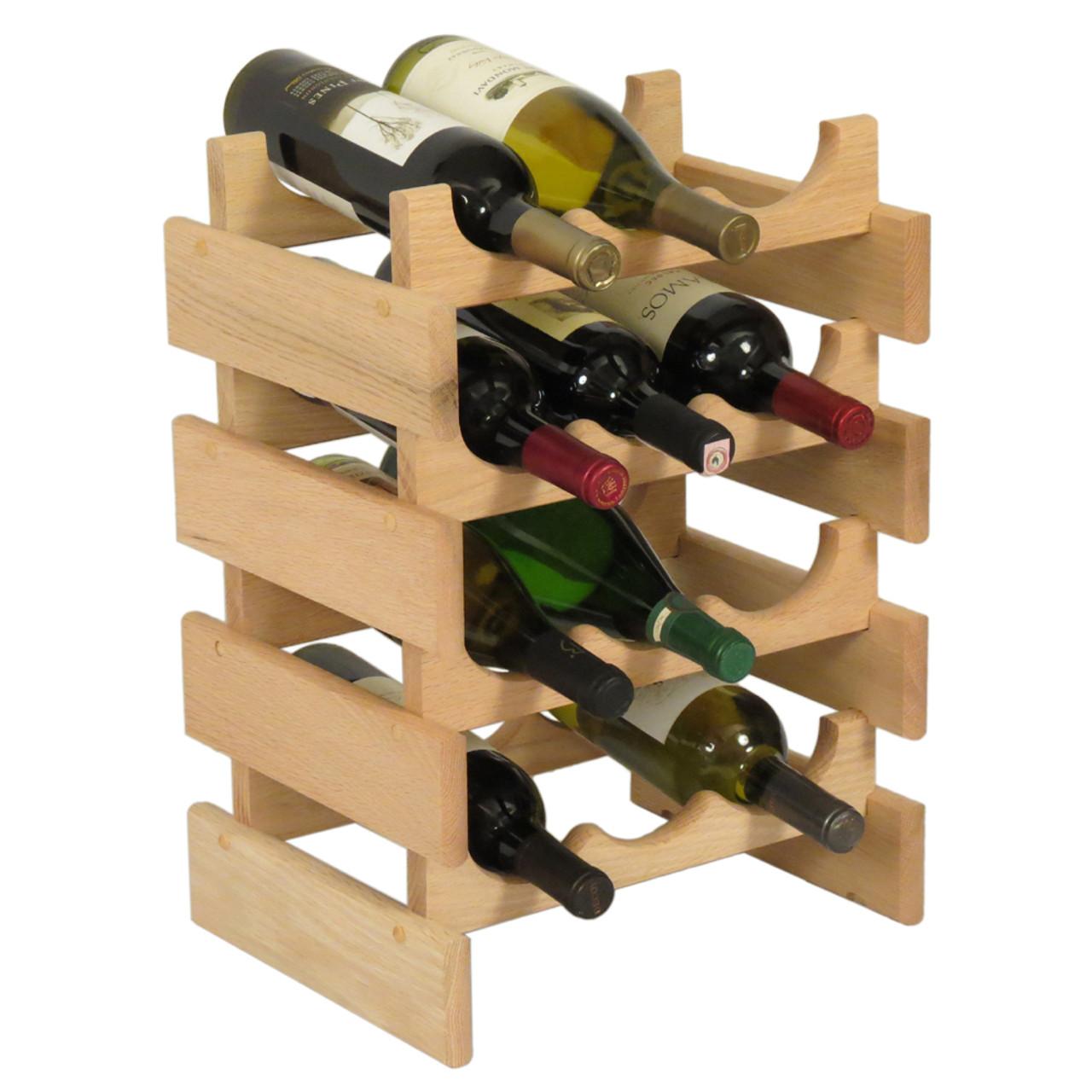 Wooden Mallet WR34 Dakota 12 Bottle Wine Rack ...