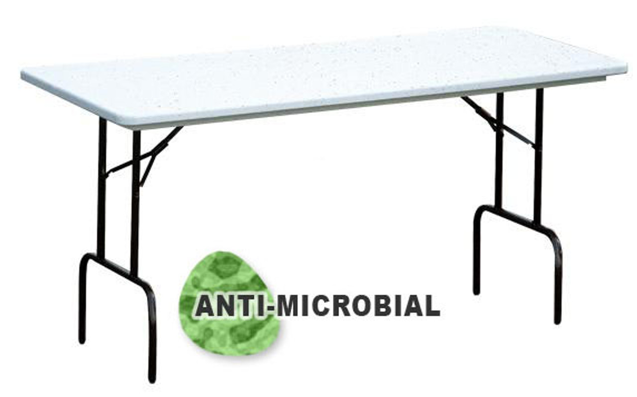 Exceptionnel Correll RS3072AM AntiMicrobial Heavy Duty Plastic Folding Table 30 W X 72 L  Fixed Counter Height ...