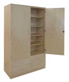 Futuristic Two Door Storage Cabinet Decoration Ideas
