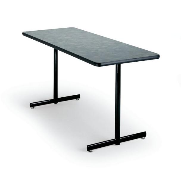 55cm Diameter Adjustable Height 60 75 Cm Coffee Table: P255ST Portico Rectangular T Base Fixed Height Folding Leg