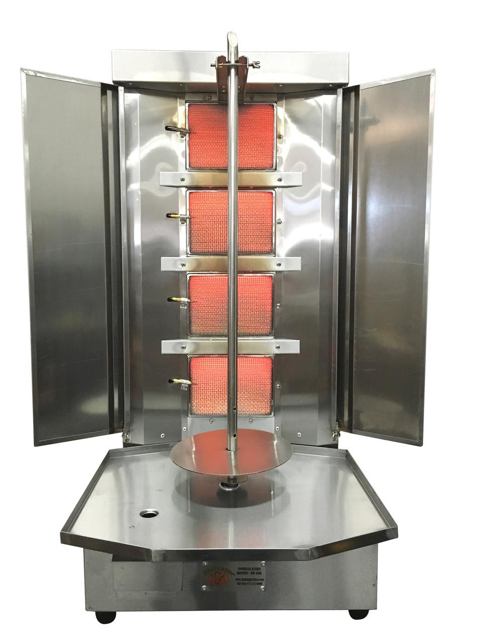 shawarma machine vertical broiler with 4 burners sg3
