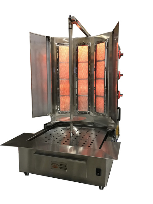 Shawarma Machine- Gyro Machine-Tacos al Pastor Machine- Doner Machine- Commerical Vertical Broiler 6 Burners Capacilty  by Spinning Grillers New York. Model SGN8- 6 Burners- Enegery Saver Commercial Quality- New for 2017