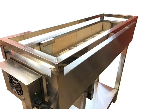 "Spinning  Grillers® Charcoal Kebab Grill 24""x 12"" x 36"""