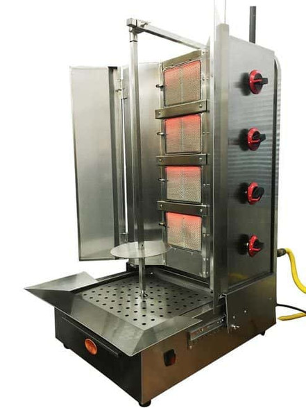 Commerical Vertical Broiler Shawarma Machine 4 Burners Sgn6