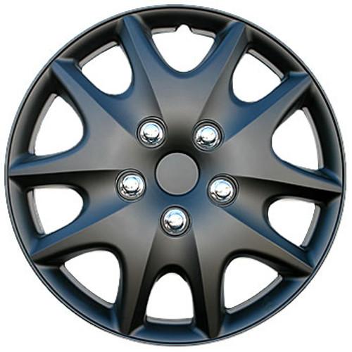 Black Hubcaps - 15 inch Matte Black Wheel Covers