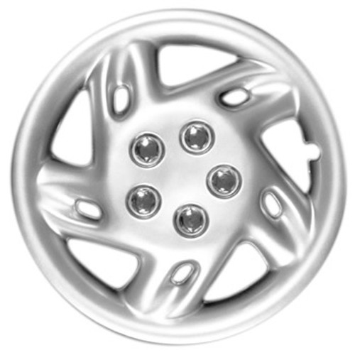 Custom 90-14s Silver Finish 14 inch Hubcaps