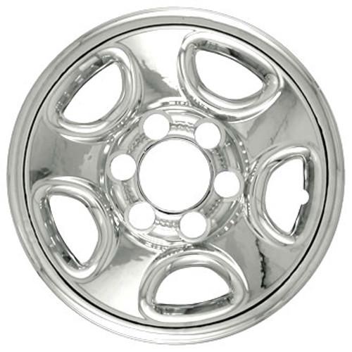 "99'-13' GMC Savana Wheel Cover Wheelskins - Chrome Finish 16"""