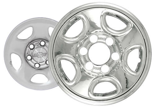 "99'-07' Chevy Silverado Wheel Cover 16"" Six Lug Chrome Finish Truck Wheel Skin"