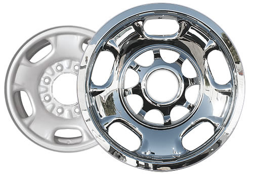 "2011-2018 Sierra Wheel Skin Wheel Cover Chrome 17"" for 8 Lug Wheel by CCI"