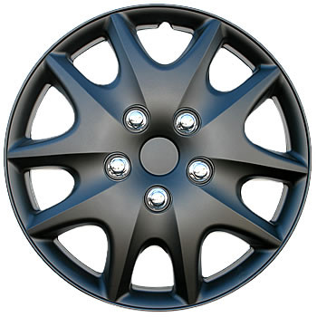 Black Hubcaps 15 - inch Matte Black Wheel Covers