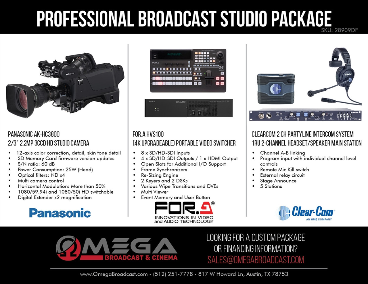 Panasonic Professional Hd Broadcast Studio Package Frame Relay Circuit Switching