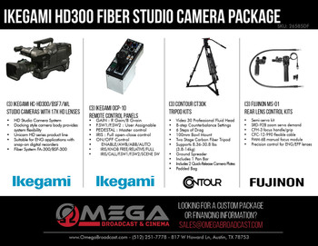 Ikegami HC-HD300 3 Camera Fiber Studio Package
