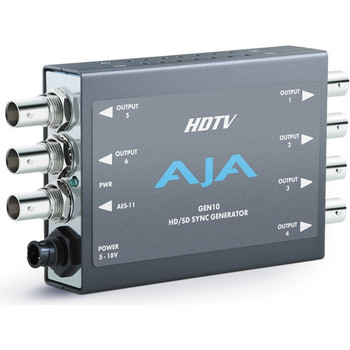 AJA GEN10 HD/SD/AES Sync Generator with Universal Power Supply