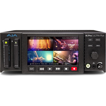 AJA Ki-Pro-Ultra-Plus Multi-Channel HD Recorder 4K/UltraHD/2K/HD Recorder and Player