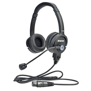 Clear-Com CC-220 Premium Lightweight Double On Ear Headset - Field Removable Four-pin Female XLR