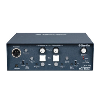 Clear-Com CS-702 2-Channel Portable Headset Main Station