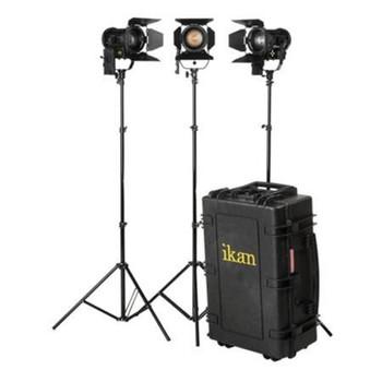 iKan HF40-KIT Helia 40W Bi-Color LED Fresnel 3-Light Kit
