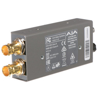 AJA FiDO-T-ST Single-Channel 3G-SDI to ST Fiber Mini Converter