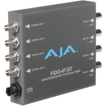AJA FiDO-4T-ST Quad-Channel 3G-SDI to ST Fiber Mini Converter