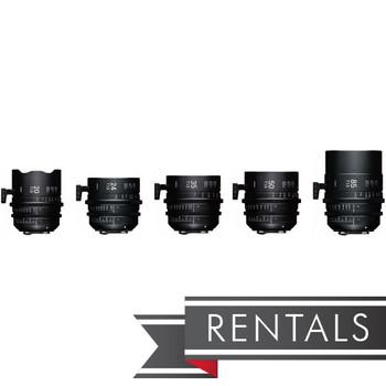 Sigma 20/24/35/50/85mm T1.5 FF F/CE Lens Set