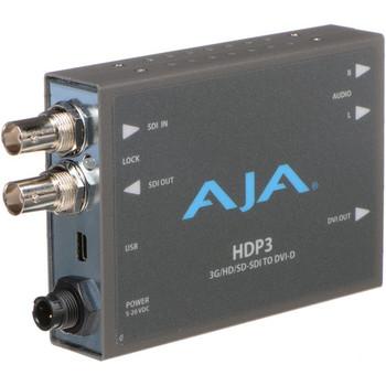 AJA HDP3 3G-SDI to DVI-D and Audio Converter