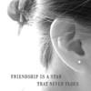 Silver Friendship Star Earrings