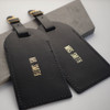Personalised Mr & Mrs Leather Luggage Tag