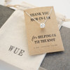 Thank You Mum Silver Knot Necklace