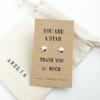 Thank You Silver Star Earrings