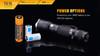 Fenix TK15 Ultimate Edt. LED Flashlight Batteries