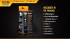 Fenix TK20R Rechargeable Tactical Flashlight Box