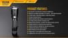 Fenix TK20R Rechargeable Tactical Flashlight Specs