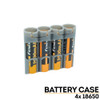 StorAcell 3-Piece 18650 Battery Case (Grey)
