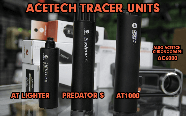 amped airsoft acetech tracer units also chronograph