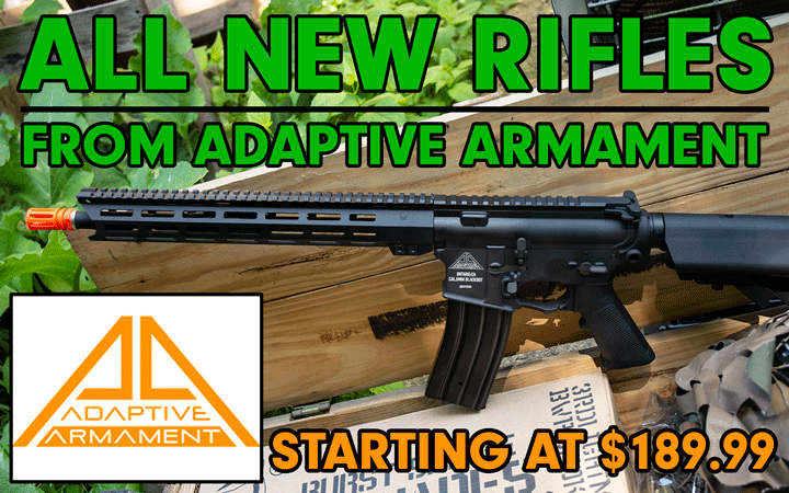 Adaptive Armament weapons now at Amped Airsoft