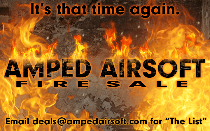 Amped Airsoft Fire Sale The List