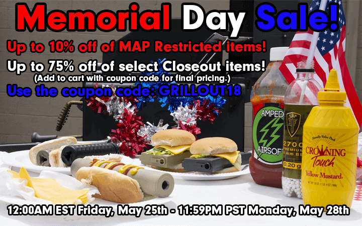 amped airsoft memorial day sale 2018