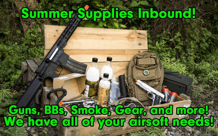 supply drop amped airsoft guns gear bbs smoke and more