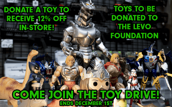 amped airsoft toy donation levo foundation drive